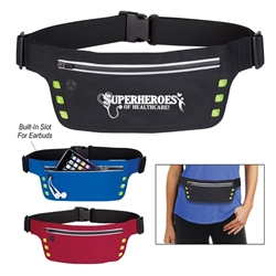 """Superheroes of Healthcare"" Running Belt With Safety Strip And Lights  Sports Running Pack, Running Bag, Walking Pack, Fanny, Walking, Running, Pack, Imprinted, Personalized, Promotional, with name on it"
