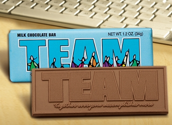 """TEAM Together Everyone Accomplishes More"" Chocolate Bar Employee Appreciation, Employee Recognition, Holiday Gifts, Business Gifts, Corporate Gifts, Holiday Parties, chocolate, Appreciation Gifts"