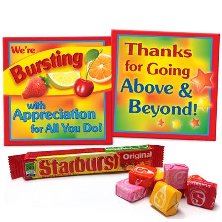 We're Bursting with Appreciation for All You Do! Starburst Snack Kit | Employee Appreciation Gifts | Care Promotions
