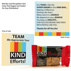 Team We Appreciate Your Kind Efforts Kind Bar Gift Set | Employee Appreciation Ideas | Care Promotions