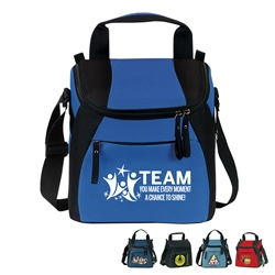 """TEAM: You Make Every Moment A Chance To Shine"" Elite 12-Pack Plus Lunch Cooler  Employee Recognition Cooler, TEAM theme Lunch Bag, Lunch, Cooler, Elite, 12 Pack, Plus, Continental Marketing, Care Promotions, Lunch Bag, Insulated, Barrel, Travel, Employee, Nurses, Teachers, Volunteers, Healthcare, Staff Gifts"