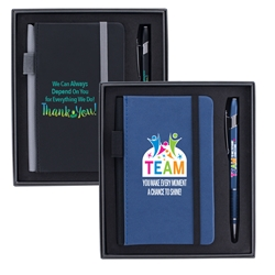 """TEAM: You Make Every Moment A Chance To Shine"" Journal & Pen Gift Set   Full Color, journal. Pen, set, laser, engraved, Journal and Pen Set, Imprinted, Personalized, Promotional, with name on it"