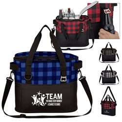 """TEAM: You Make Every Moment A Chance To Shine"" Northwoods Cooler Bag  Employee Appreciation, Theme, Cooler Bag, Checkered Pattern Tote, Checkered Cooler,  Personalized, Promotional, with name on it, Gift Idea, Giveaway, novelty pen, promotional pen, fidget spinner pen"