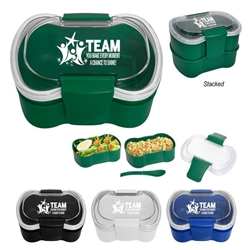 """TEAM: You Make Every Moment A Chance To Shine"" On-The-Go Convertible Lunch Set  Employee Recognition, Lunch Dish, Lunch Plate, Lunch Set, Lunch Box, Imprinted, Personalized, Promotional, with name on it, Gift Idea, Giveaway, novelty pen, promotional pen, fidget spinner pen"