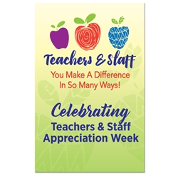 "Teachers & Staff Appreciation Week Theme 11 x 17"" Posters (Sold in Packs of 10)  Teacher & Staff, Week, Theme, Poster, Celebration Poster, Theme Poster,"