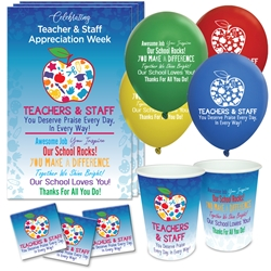 """Teachers & Staff: You Deserve Praise Every Day in Every Way"" Celebration Party Pack  Teacher Appreciation theme decoration pack,  Teacher & Staff Appreciation theme Party Pack, Teacher Celebration Pack, Teacher & School Staff Celebration Pack,"