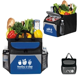 """Teachers & Staff: You Make A Difference In So Many Ways""12-Pack Cooler Plus Collapsible Cube   Teachers and School Theme Trunk holder Cooler, 12 Pack Cooler Plus Collapsible Cube, Cooler and Trunk Cube, Continental Marketing, Care Promotions, Lunch Bag, Insulated, Barrel, Travel, Employee, Nurses, Healthcare, Staff Gifts"