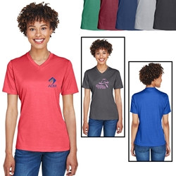 Team 365® Ladies Sonic Heather Performance T-Shirt | Care Promotions