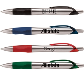 Arctic Fox Pen Plastic, Budget, Contemporary, Grip, Pen, Ballpoint, metal, Imprinted, Personalized, Promotional, with name on it, giveaway, black ink, promotional pens, custom logo pens, logo pens, pens with logo