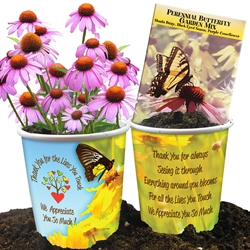 """Thank You For The Lives You Touch, We Appreciate You So Much"" Butterfly Garden Mix Planter Set Butterfly, Garden Seed Mix, Seed Packet, Perennial, Planter, Gift, Set, Sets, Spring, Gifts, Efforts, Making A Difference, Budget Friendly,"