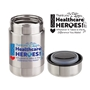 "Thank You Healthcare Heroes 2020...Whatever it Takes is The Difference You Make"" Safora 13 oz Vacuum Insulated Food Canister Healthcare appreciation, nurses appreciation, Vacuum food container, personalized, imprinted, with logo, food container with logo, food container with imprint Care Promotions,"