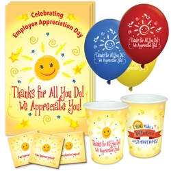 """Thanks For All You Do, We Appreciate You"" Celebration Party Pack   Poster, Cups, Balloons, Party, Pack, Celebration Pack, Employee, Staff,  Appreciation, Week, Day theme Celebration Pack"