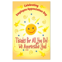"""Thanks For All You Do, We Appreciate You!"" Employee Appreciation Day Theme 11 x 17"" Posters (Sold in Packs of 10)    Poster, Celebration Poster, Employee Appreciation Day, Recognition Theme Poster,"