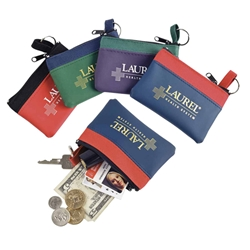 The Fun Color Zip Purses Zip Purses, Suade-Style, Fun, Color, Nylon, Purse, Bag, Wallet, Imprinted, Personalized, Promotional, with name on it, giveaway