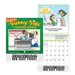 The Sunny Side Of Customer Service Mini Wall Calendar 2021 Positive Promotions, The Sunny Side of Customer Service, The Positive Line, Customer Service Calendar, Education, Educational, information, Informational, Paper, Low-cost, Low-Price, Cheap, Instruction, Instructional, Booklet, Small, Reference, Interactive, Learn, Learning, Read, Reading, Health, Well-Being, Living, Awareness, ColoringBook, ActivityBook, Activity, Crayon, Maze, Word, Search, Scramble, Entertain, Educate, Activities, Schools, Lessons, Kid, Child, Children, Story, Storyline, Stories, Fire, Safety, Burn, Fireman, Fighter, Department, Smoke, Danger, Forest, Station, Protect, Protection, Emergency, Firefighter, First Aid,Imprinted, Personalized, Promotional, with name on it, Giveaway,