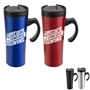 """The Votes Are In...Our Customer Service Wins"" Outback 16 oz. Travel Mug Customer Service Theme Travel Mug, Customer Service Appreciation Travel Mug, Steel Travel Mug, Under $6 Travel Mug, bottle, promotional drinkware, custom vacuum insulated drinkware, employee wellness gifts, fitness promotional items"