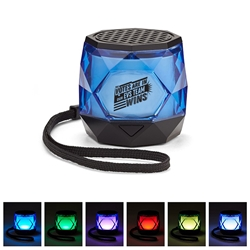 """The Votes Are In Our EVS TEAM Wins!"" Mini Colorful Diamond Wireless Speaker   EVS Theme, Housekeeping, Theme, Appreciation, Portable, Speaker, Disco Speaker, Light Up Spreaker, employee appreciation gifts, business gifts, giveaways, corporate gifts with your logo"