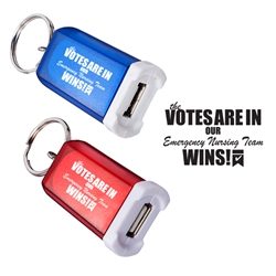 """Emergency Nurses: Your Care Makes A Difference In So Many Ways!"" Mini Car Charger With Key Ring  Emergency Nurses Theme, Car Charger, Key Ring Car Charger, Key Tag Car Charger, Imprinted, Personalized, Promotional, with name on it, giveaway,"