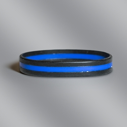Thin Blue Line Police Officer Silicone Wristband Bracelet police promotional items, police officer gifts, law enforcement promotional items, silicone awareness bracelet, crime prevention month giveaways