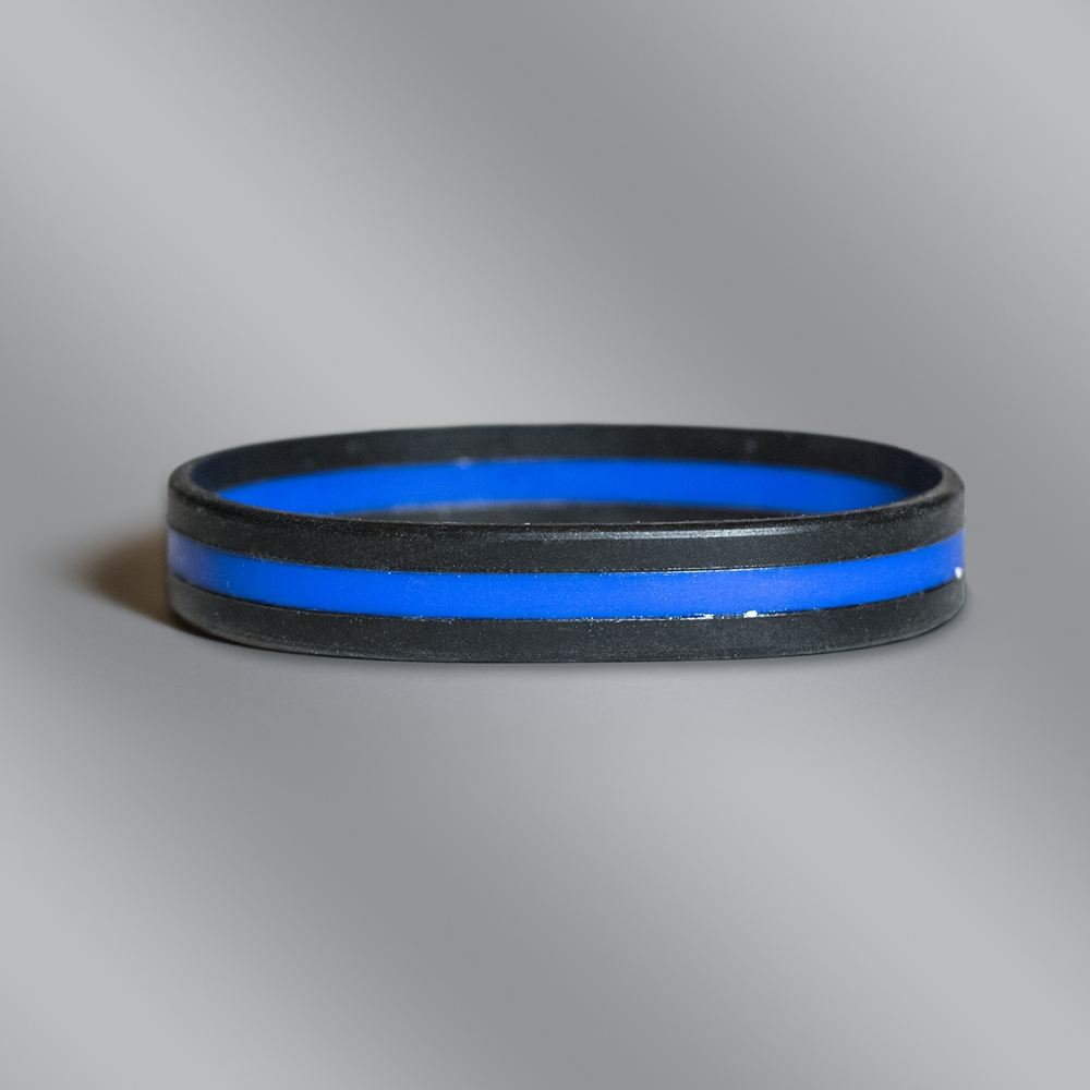 Thin Blue Line Police Officer Silicone
