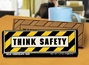 """Think Safety"" Chocolate Bar Employee Appreciation, Employee Recognition, Safety Incentives, Safety Rewards, Workplace Safety, National Safety Month, Safety Meetings, Safety Snacks, OSHA"