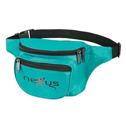 Three Zippered Fanny Pack promotional fanny pack, promotional waist pack, custom printed fanny pack, customized travel bag, custom logo fanny pack, promotional products