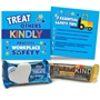 """Treat Others Kindly, Practice Workplace Safety"" Mini Care Package Safety, Workplace Safety, Reminders, Incentives, Giveaways, Kind Bar, Rice Krispie, Safety, Kit,  Low cost safety reminders,"