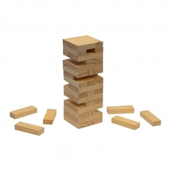 Tumble Tower On-the-Go Game Set promotional game set, corporate holiday gifts, custom logo business gifts, employee appreciation gifts, team building gifts, custom logo gifts, custom jenga set, promotional jenga set