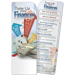 Tune Up Your Finances Bookmark Tune Up Your Finances Bookmark, BetterLifeLine, BetterLife, Education, Educational, information, Informational, Wellness, Guide, Brochure, Paper, Low-cost, Low-Price, Cheap, Instruction, Instructional, Booklet, Small, Reference, Interactive, Learn, Learning, Read, Reading, Health, Well-Being, Living, Awareness, Book, Mark, Tab, Marker, Bookmarker, Page holder, Placeholder, Place, Holder, Card, 2-side, 2-sided, Page, Financial, Debit, Credit, Check, Credit union, Investment, Loan, Savings, Finance, Money, Checking, Cash, Transactions, Budget, Wallet, Purse, Creditcard, Balance, Reconciliation, Retirement, House, Home, Mortgage, Refinance, Real Estate, Bill, Debt, Fraud, Imprinted, Personalized, Promotional, with name on it, Giv,
