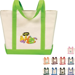 Two-Tone Boat Bag All Purpose, Two-Tone, Zip, Boat, Polyester, Promotional Events, Trade Show Bags, Health Fair, Imprinted, Tote, Reusable, Recognition, Travel