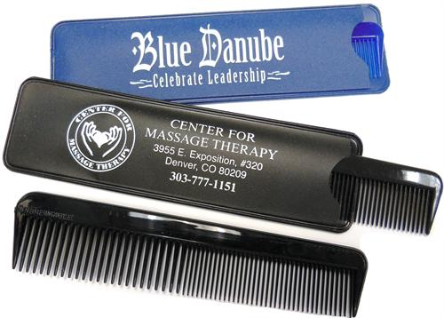Unbreakable Comb in a matching vinyl Case Unbreakable Comb in a Matching Vinyl Case, Comb in Case, Vinyl Case, Comb, Combs, Imprinted, Personalized, Promotional, with name on it, giveaway