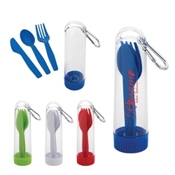 Utensil Kit With Carabiner Utensil Kit With Carabiner, Utensil, Kit, with, Carabiner, Imprinted, Personalized, Promotional, with name on it, giveaway,