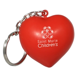 Valentine Heart Stress Reliever Key Chain | Care Promotions