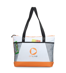 Venture Business Tote Trade Show Tote, Convention Bag, tote with Water Bottle Holder, Pocket, Basic, Low Price, Promotional, Imprinted, with name on it, logo, custom bag