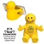 """Volunteers: A Smiling Face To Make The World A Better Place"" Happy Dude Mobile Device Holder  Volunteer Appreciation, Volunteer Recognition, phone stand, employee appreciation gifts, trade show giveaways"