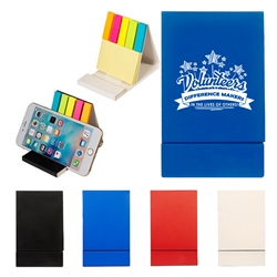 """Volunteers: Difference Makers In The Lives of Others!"" Duo Sticky Notepad & Phone Stand  Volunteer theme, Volunteer Appreciation, Volunteer Recognition, Sticky note phone holder, stationery phone holder, employee appreciation gifts, business gifts, giveaways, corporate gifts with your logo"