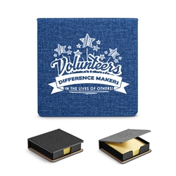"""Volunteers: Difference Makers In The Lives of Others!"" Heathered Sticky Memo Pad Box   Volunteer appreciation, Volunteer Theme sticky note holder, Volunteer theme sticky note box, desk sticky note holder, with logo, business gifts, corporate holiday gifts, custom Key Tag phone wallet, custom printed Key Tag wallet, customized key tag wallet, promotional wallet key tag, Key Tag Wallet promotional products, employee appreciation gifts, recognition gifts, custom logo thank you gifts"