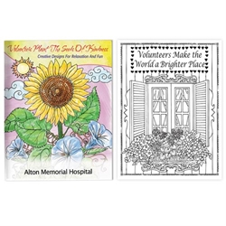 Volunteers Plant The Seeds Of Kindness Adult Coloring Book Coloring Books for Adults, Stress Relief, Adult Coloring Books, promotional coloring books