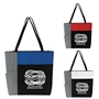 """""Volunteers: Through & Through We Can Always Depend On You"" Color Block Pocket Zip Tote  Volunteer, Appreciation, Recognition, Color, block, Zip, Multi-Function, Luggage Loop Tote Bag, tote, Imprinted, Travel, Custom, Personalized, Bag"