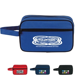 """Volunteers: Through and Through We Can Always Depend On You"" Amenity Kit   Volunteer Appreciation, Volunteer Recognition, Amenities, Toiletry, Zipper, Zippered, Travel, Pack, Waist, Bag, Kit, Promotional, Events, All Purpose, Imprinted, Reusable, Custom, Personalized, Sport, Pack"