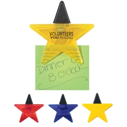 """Volunteers: You Make A Difference In So Many Ways!"" Star Shape Clip and Magnet Star Shape Clip, Star, Shape, Clip, Staff, Volunteers, Shines, Youre A Star, Shining Star, Imprinted, Personalized, Promotional, with name on it, giveaway,"