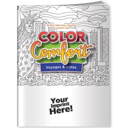 Voyages & Vistas (U.S. Landmarks) Color Comfort Adult Coloring Book Coloring Books for Adults, Stress Relief, Adult Coloring Books, promotional coloring books