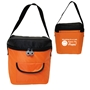 WORKING IN A LAB Makes Me HAPPY! Lunch Bag  lunch cooler bag, lunch bag, cooler bag, promotional lunch bag, promotional products, employee appreciation, employee recognition, smiley face