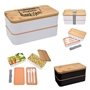 """We Can Always Depend On You For Everything We Do, Thank You!"" Stackable Bento Lunch Set  Bento Lunch Container, Stackable, Lunch Dish, Lunch Plate, Lunch Set, Lunch Box, Imprinted, Personalized, Promotional, with name on it, Gift Idea, Giveaway, novelty pen, promotional pen, fidget spinner pen"