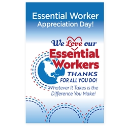 "We Celebrate You! We Love Our Essential Workers! Theme 11 x 17"" Posters (Sold in Packs of 10)  Essential Worker, Appreciation, Theme, Posters, Poster, Celebration Poster, Appreciation Day, Recognition Theme Poster,"