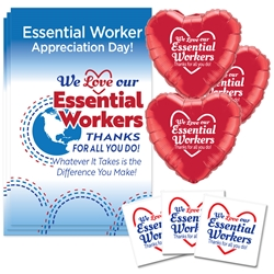 """We Love Our Essential Workers, Thanks For All You Do!"" Theme Celebration Pack  Essential Workers theme decoration pack,  Essential Workers, theme Party Pack,  Essential Staff Celebration Pack, Essential Workers Appreciation, Week, Staff, theme Celebration Pack"