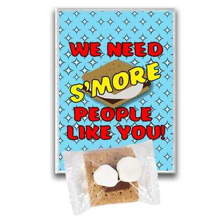 We Need Smore People Like You! Treat Kits Smores kit, smore appreciation kit, smores treat pack, employee recognition Treat, employee appreciation treat, Employee Treat Giveaway, Employee Appreciation Candy Kit