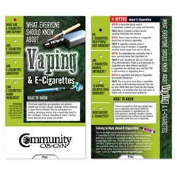 What Everyone Should Know About Vaping & E-Cigarettes Mini Slideguide Vaping Awareness, E-Cigarettes, Dangers of Vaping, Vaping Prevention, Slideguide