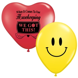 """When It Comes To Our Housekeeping...WE GOT THIS!"" 11"" inch Crystal Latex Balloons (Pack of 60) Healthcare Environmental Services Week, Balloons, Party, Decorations, theme, Housekeepng, Housekeepers, Week, National, Theme, Latex balloons, party goods, decorations, celebrations, round shaped balloons, promotional balloons, custom balloons, imprinted balloons"