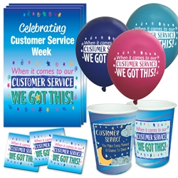 """When it Comes To Our Customer Service...WE GOT THIS!"" Celebration Party Pack   Customer Service, CSR, CSRs, theme, Appreciation decoration pack,  Customer Service Appreciation theme Party Pack, Customer Service, Celebration Pack, CSR Week, Celebration Pack,"